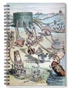 Standard Oil Cartoon Spiral Notebook