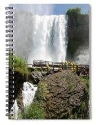 Standing Below Bridal Veil Falls Spiral Notebook