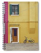 Standing By For A Quick Get Away In Burano Italy Spiral Notebook