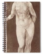 Standing Female Nude With Baton In The Right Spiral Notebook