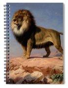 Standing Lion Spiral Notebook
