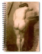 Standing Nude 1876 Spiral Notebook