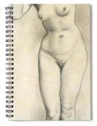 Standing Nude Spiral Notebook