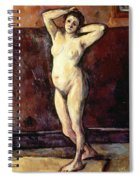 Standing Nude Woman Spiral Notebook