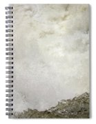Standing On A Waterfall Spiral Notebook