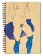 Standing Woman With Shoes And Stockings Spiral Notebook