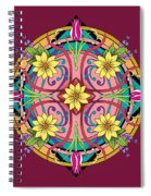 Star Flower Spiral Notebook