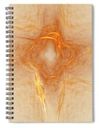 Star In Abstract Spiral Notebook