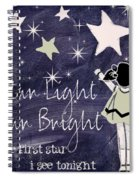 Star Light Star Bright Chalk Board Nursery Rhyme Spiral Notebook