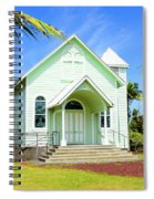 Star Of The Sea Painted Church Spiral Notebook