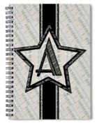 Star Of The Show Art Deco Monogram Spiral Notebook