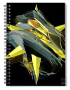Star Of Yellow Spiral Notebook
