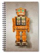 Star Strider Robot Orange Spiral Notebook