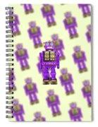 Star Strider Robot Purple Pattern Spiral Notebook