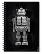 Star Strider Robot Red Bw Spiral Notebook