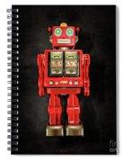 Star Strider Robot Red On Black Spiral Notebook