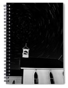 Star Tracks Over Saint Columba Anglican Country Church Spiral Notebook