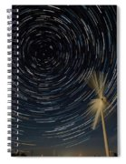 Star Trail In Hays, Ks Spiral Notebook