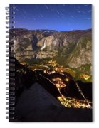Star Trails At Yosemite Valley Spiral Notebook