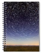 Star Trails Over Mountains Spiral Notebook