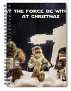 Star Wars Christmas Card Spiral Notebook
