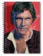 Star Wars Han Solo Pop Art Portrait Spiral Notebook
