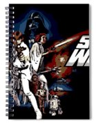 Star Wars Movie Poster Spiral Notebook