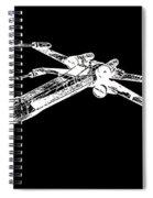 Star Wars T-65 X-wing Starfighter White Ink Tee Spiral Notebook