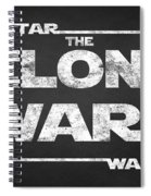 Star Wars The Clone Wars Chalkboard Typography Spiral Notebook