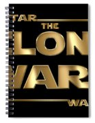 Star Wars The Clone Wars Typography Spiral Notebook