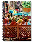 Starbucks Cafe On Monkland Montreal Cityscene Spiral Notebook