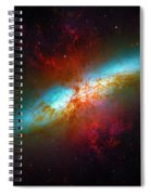 Starburst Galaxy M82 Spiral Notebook