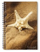 Starfish In Sand Spiral Notebook