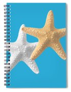 Starfish On Turquoise Spiral Notebook