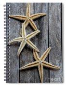 Starfishes In Wooden Spiral Notebook