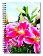 Stargazer Lilies #1 Spiral Notebook