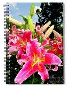 Stargazer Lilies #2 Spiral Notebook