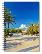 Stari Grad On Hvar Island Palm Waterfront Spiral Notebook