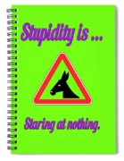 Staring Bigstock Donkey 171252860 Spiral Notebook