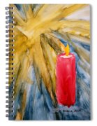 Starlight And Candlelight Spiral Notebook