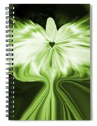 Starlight Angel - Green Spiral Notebook