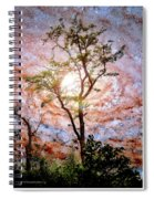 Starry Night Fantasy, Tree Silhouette Spiral Notebook