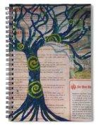 Starry Night-inspired Tree Spiral Notebook