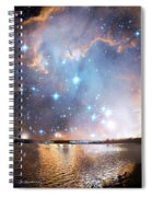 Starry Night Over A Mountain Lake Fantasy Spiral Notebook