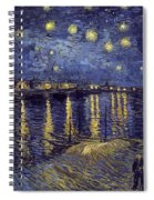 Starry Night Over The Rhone Spiral Notebook