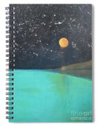 Starry Sky Above The Ocean Spiral Notebook