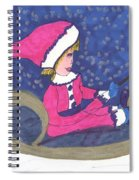Starry Sleigh Ride Spiral Notebook