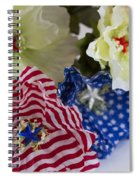 Stars And Stripes Bouquet Spiral Notebook