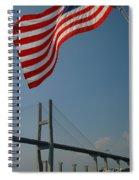 Stars And Stripes In Savannah Spiral Notebook
