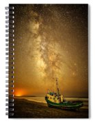 Stars Over Fishing Boat Spiral Notebook
